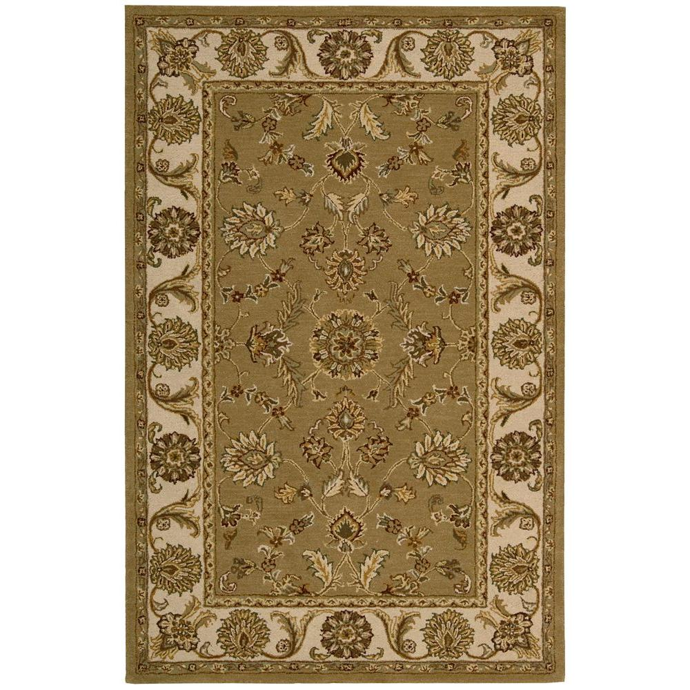 Nourison Overstock India House Olive 3 ft. 6 in. x 5 ft. 6 in. Area Rug