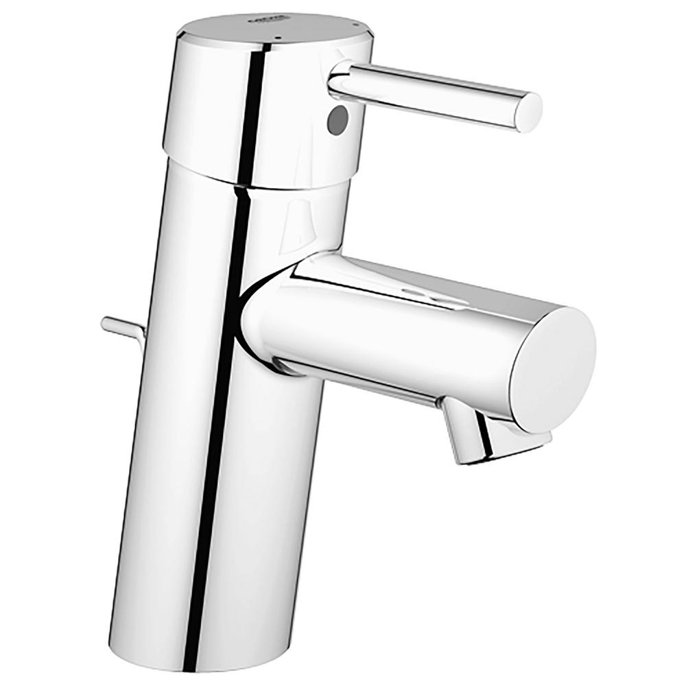 7 Faucet Finishes For Fabulous Bathrooms: GROHE Concetto Single Hole Single-Handle Bathroom Faucet