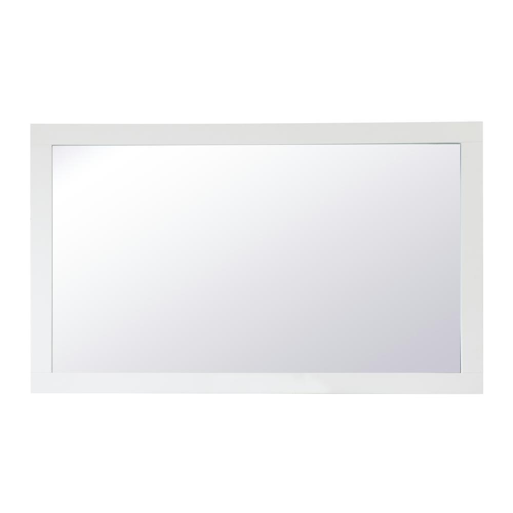 Medium Rectangle White Contemporary Mirror (36 in. H x 60 in. W)