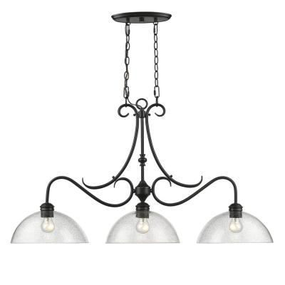 Parrish 3-Light Black Pendant