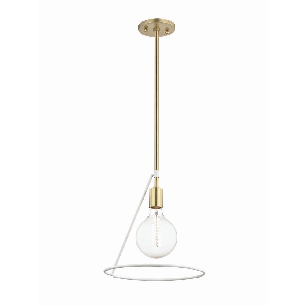Mitzi By Hudson Valley Lighting Dana 1 Light Aged Br White Angled Pendant
