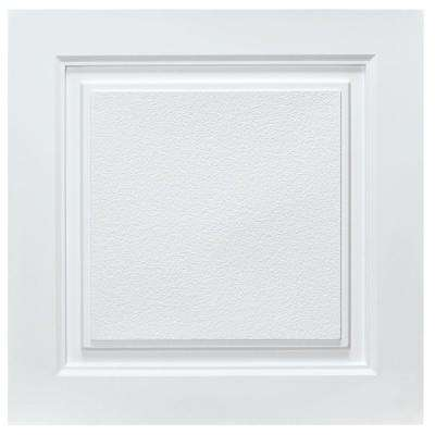 Westport 2 ft. x 2 ft. Lay-in Ceiling Tile in White (40 sq. ft. / case)