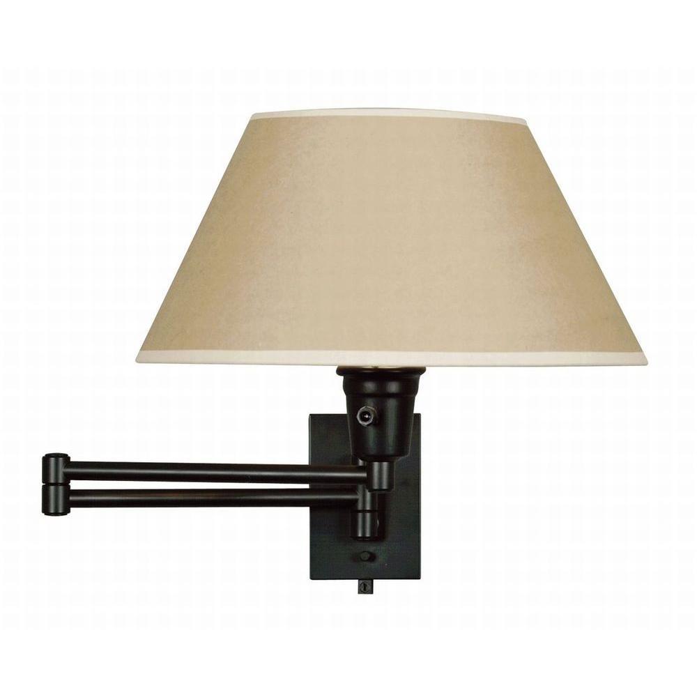 Hardwired lamps lighting the home depot matte black 1 light wall swing arm keyboard keysfo Choice Image