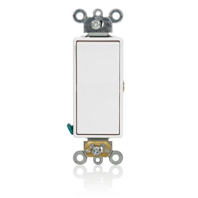 15 Amp 120/277 VAC Decora Plus Single Pole Rocker Light Switch Momentary Contact Commercial Specification, White