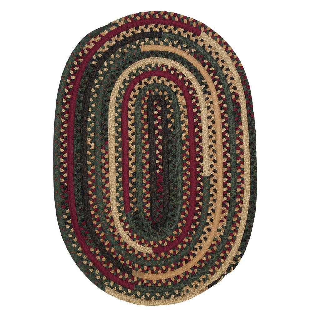 Owen Winter 2 ft. x 3 ft. Oval Braided Area Rug