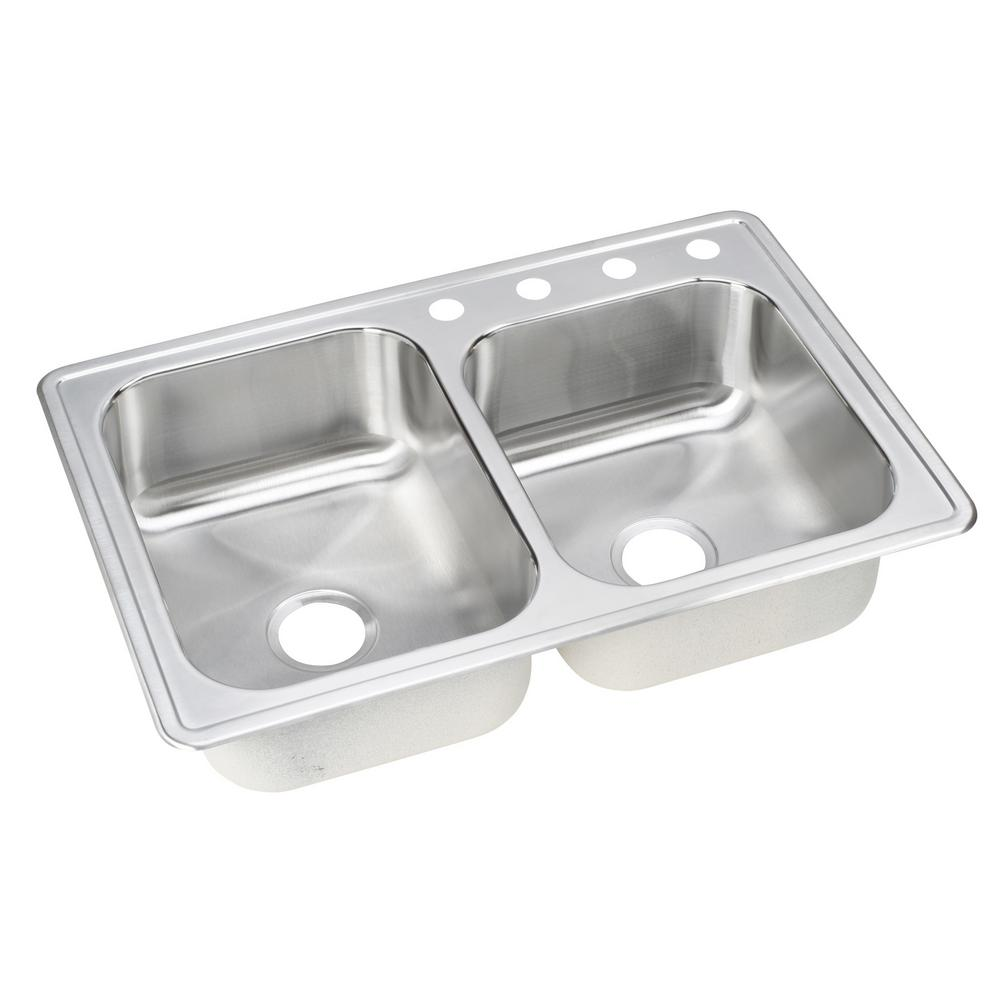 stainless steel drop in kitchen sinks elkay drop in stainless steel 33 in 4 bowl 9392