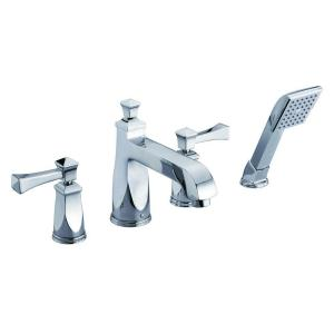 2-Handle Deck-Mount Roman Tub Faucet in Polished Chrome