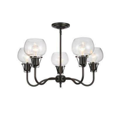 Urban Renewal 5-Light Rustic Iron Chandelier