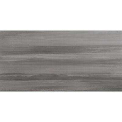 Water Color Graphite 12 in. x 24 in. Glazed Porcelain Floor and Wall Tile (12 sq. ft. / case)