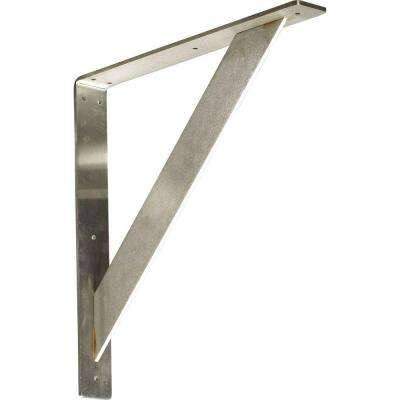 16 in. x 2 in. x 16 in. Stainless Steel Unfinished Metal Traditional Bracket