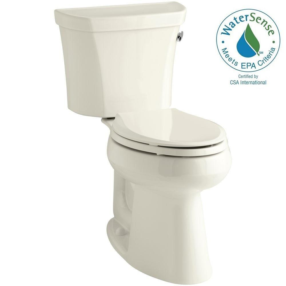 KOHLER Highline 2-piece 1.28 GPF Single Flush Elongated Toilet in Biscuit