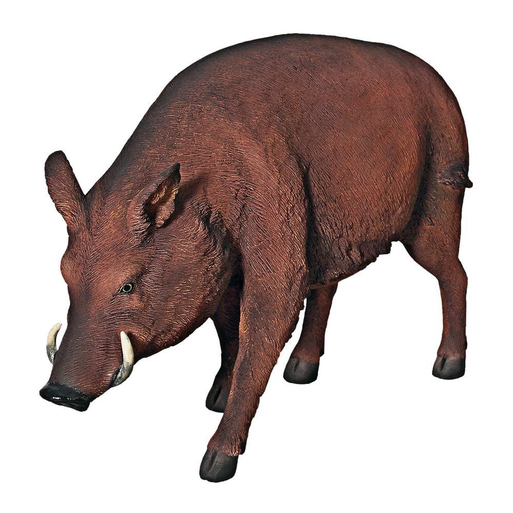 Design Toscano 30 5 in  H Razorback Wild Boar Life Size Statue