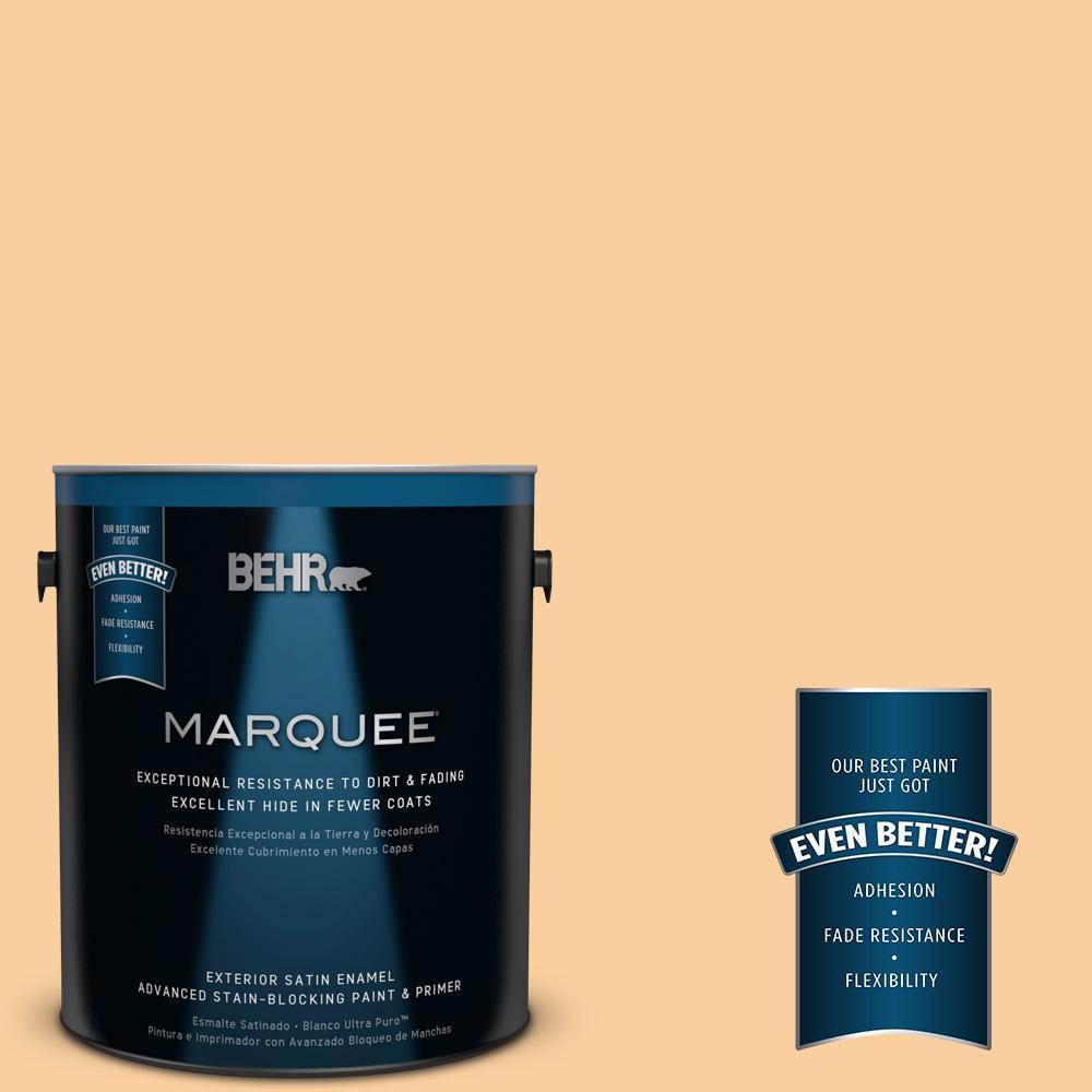 BEHR MARQUEE 1-gal. #310C-3 Warm Cocoon Satin Enamel Exterior Paint