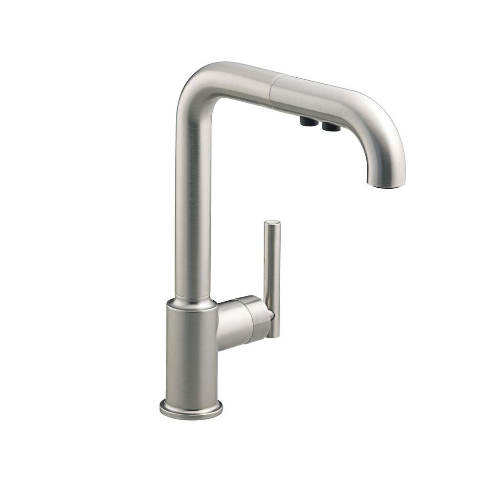 pullout sink faucet com matte primary faucets kitchen amazon on black purist kohler touch k bl dp