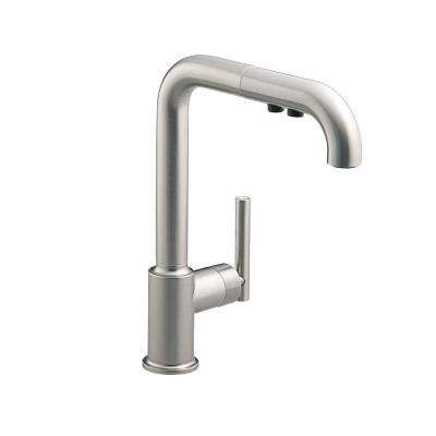 Purist Single-Handle Pull-Out Sprayer Kitchen Faucet In Vibrant Stainless