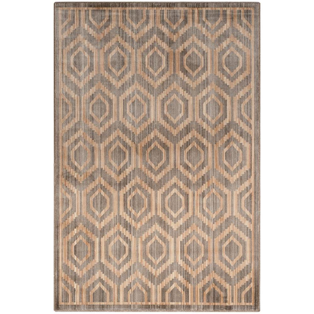 Safavieh infinity grey beige 4 ft x 6 ft area rug for Grey and tan rug