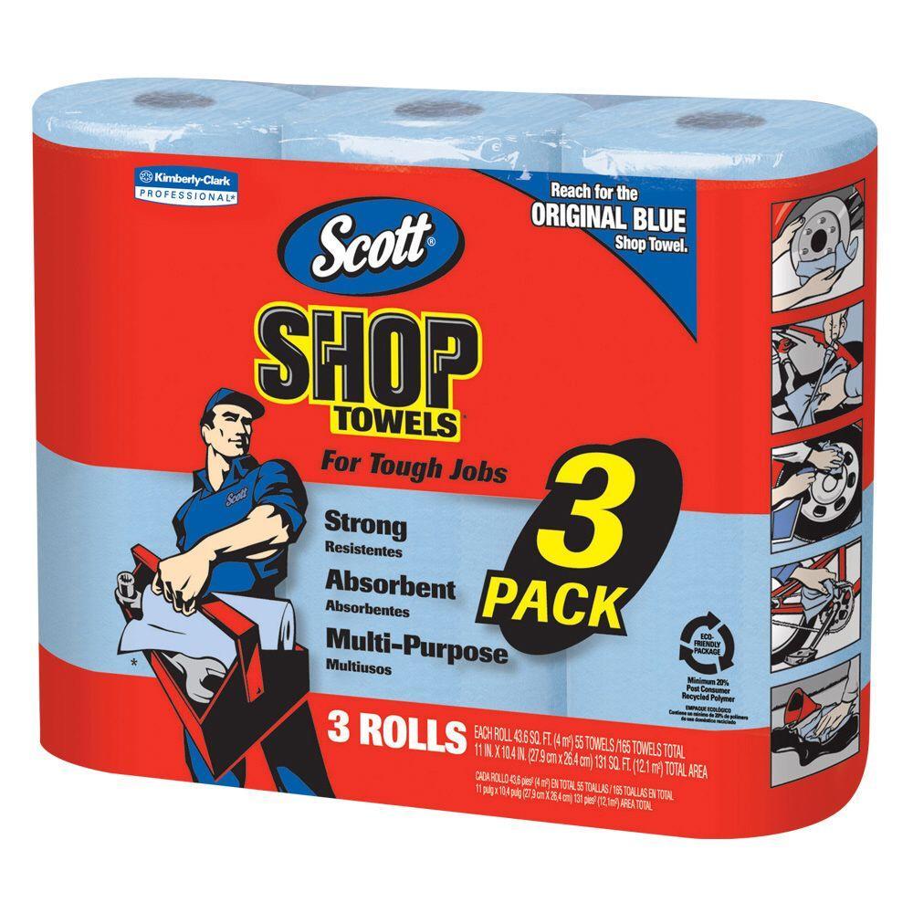 Scott Shop Towels 3 Rolls Pack 75143 The Home Depot