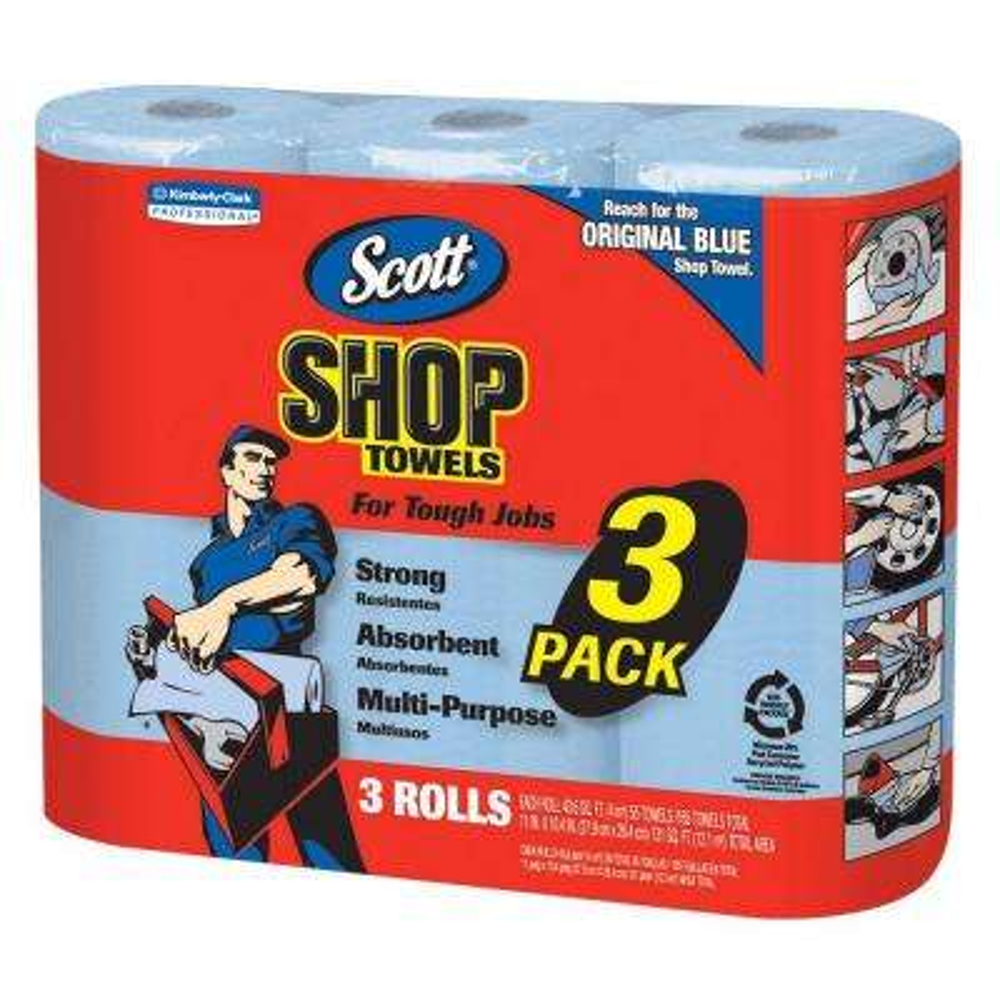 Shop Towels (3 Rolls/Pack)