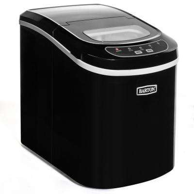 26 lbs. Portable Mini Cube Countertop Ice Maker in Black ETL Listed