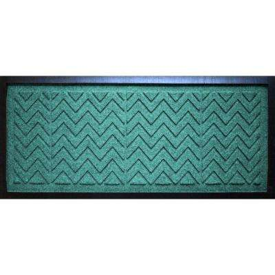 Aquamarine 15 in. x 36 in. x 0.5 in. Chevron Boot Tray