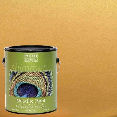 1 gal. Pharaoh's Gold Satin Metallic Interior/Exterior Paint