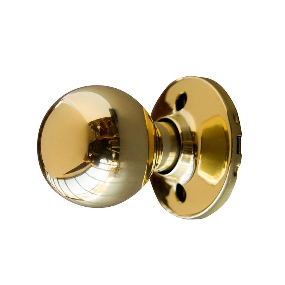 Bay Polished Brass Dummy Door Knob