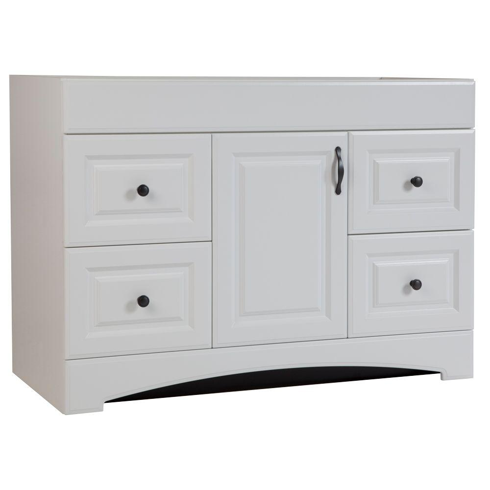Glacier Bay Regency 48 in. W Bath Vanity Cabinet Only in White