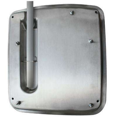 Top Entry Adapter for VERDEdri Electric Hand Dryer in Brushed Stainless Steel