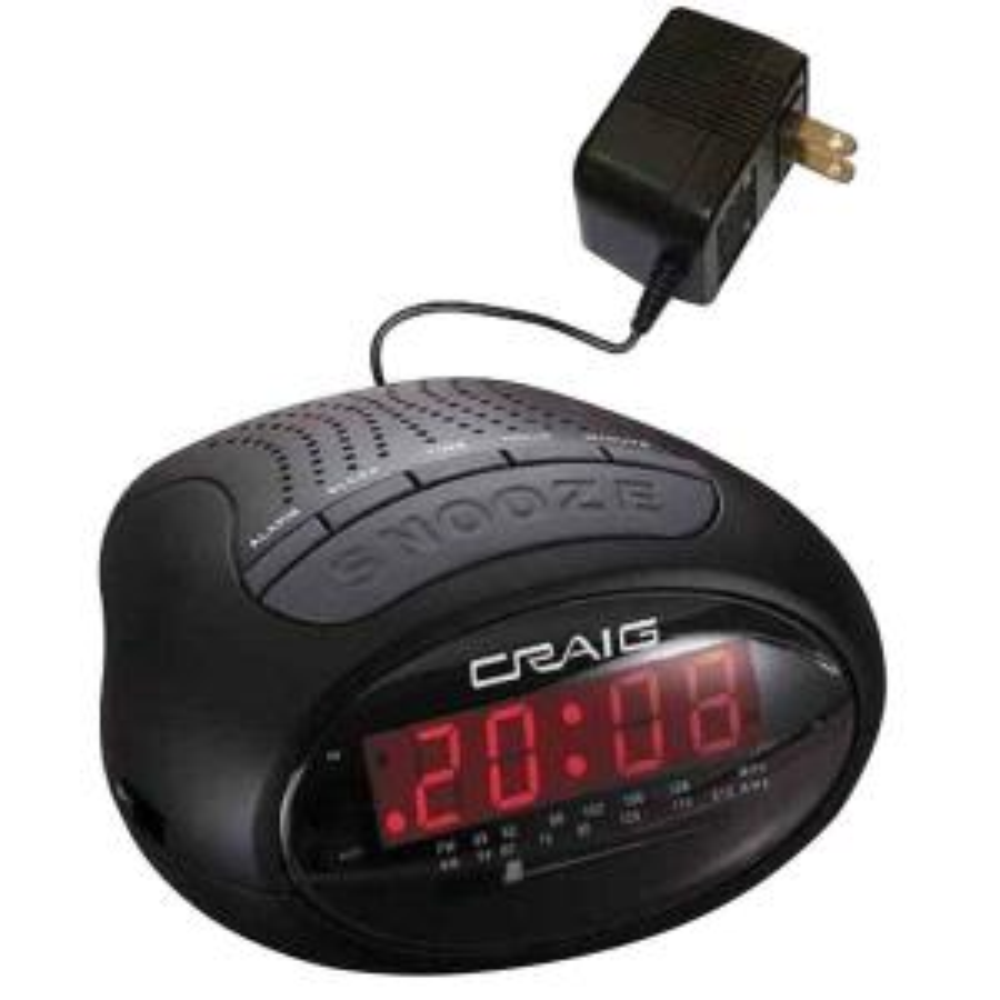 CRAIG 0.6 inch LED PLL AM/FM Dual Alarm Clock Radio by CRAIG