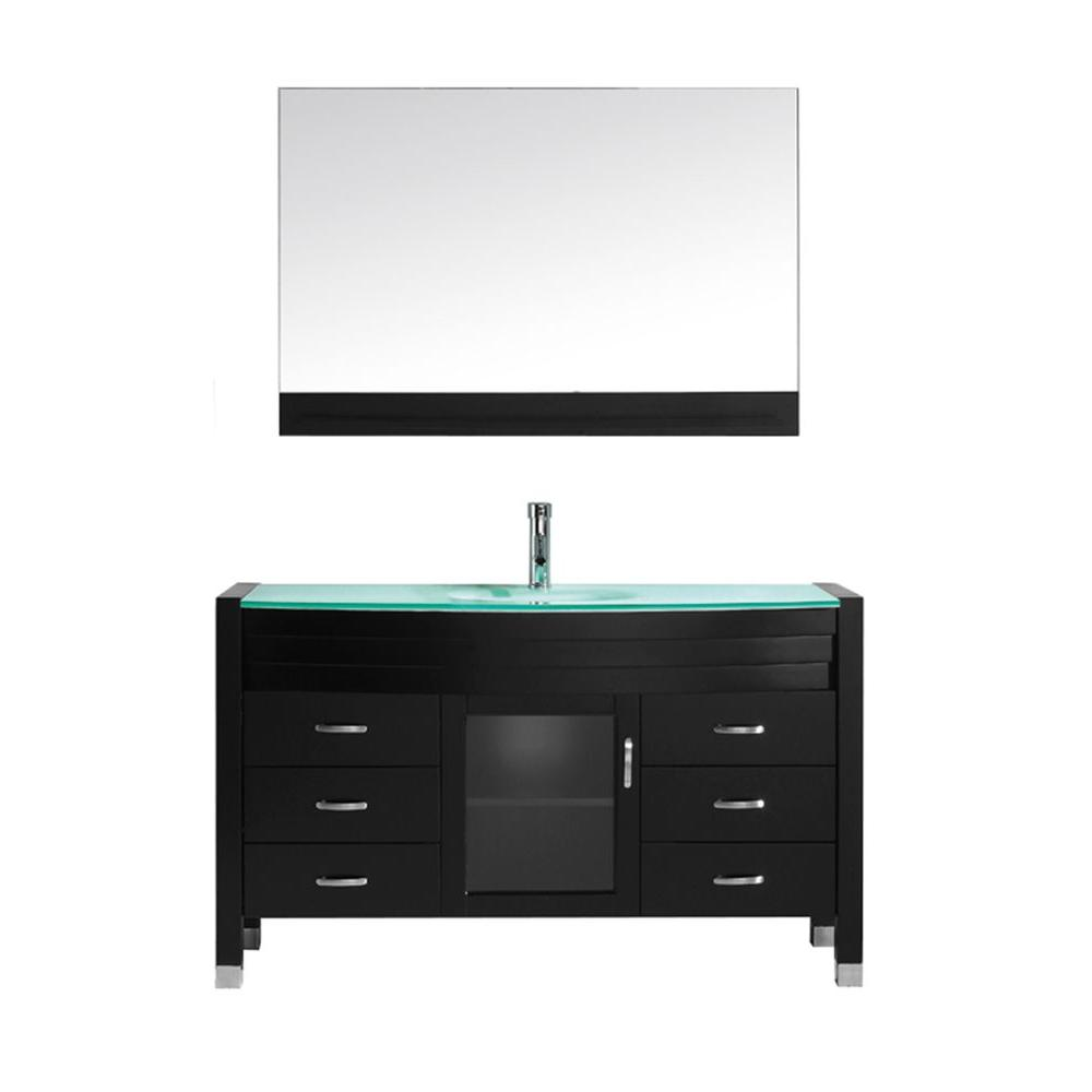 Glass Vanities With Tops Bathroom Vanities The Home Depot