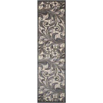 Graphic Illusions Multi 2 ft. x 8 ft. Runner Rug