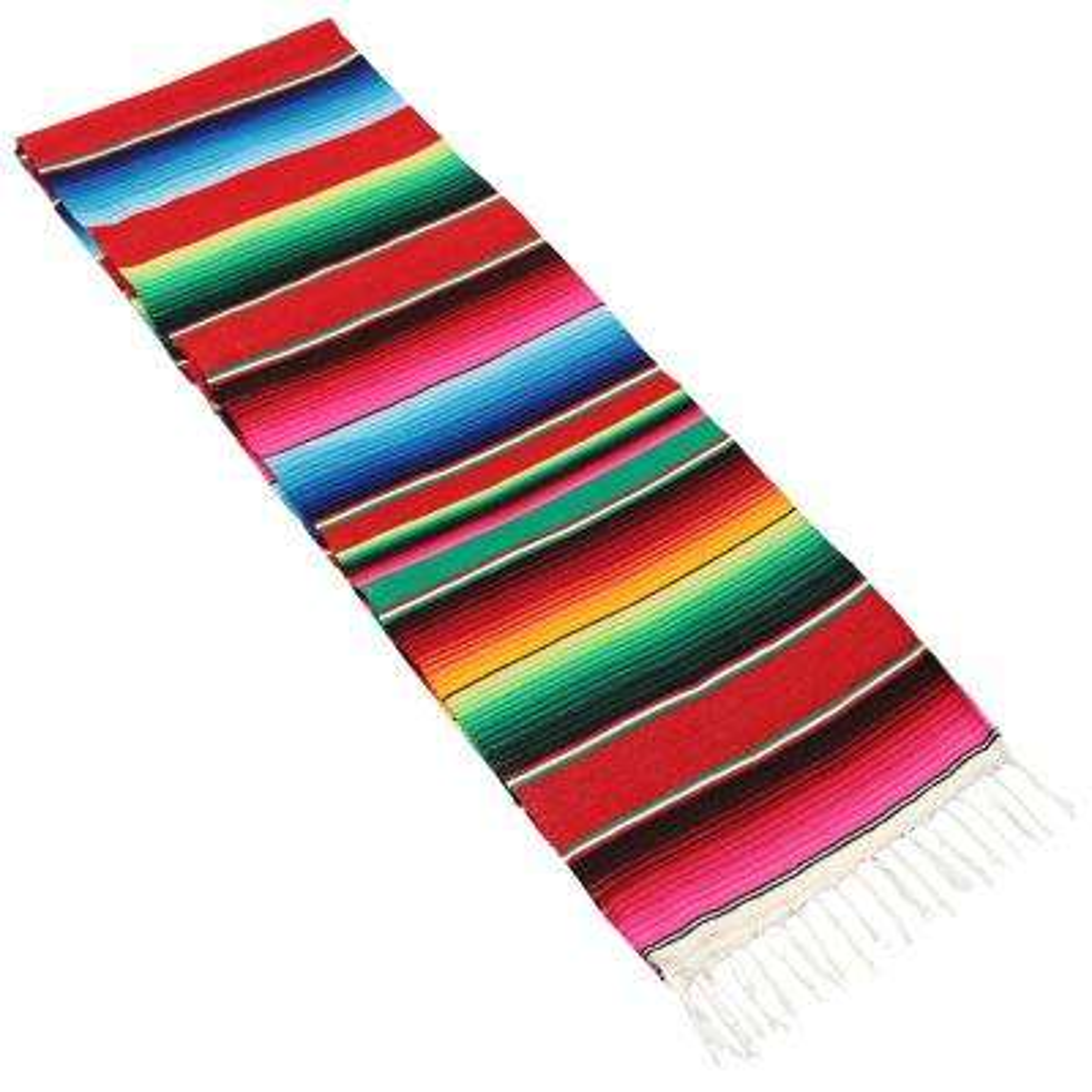 Multi-Color Mexican Serape Hammock Blanket