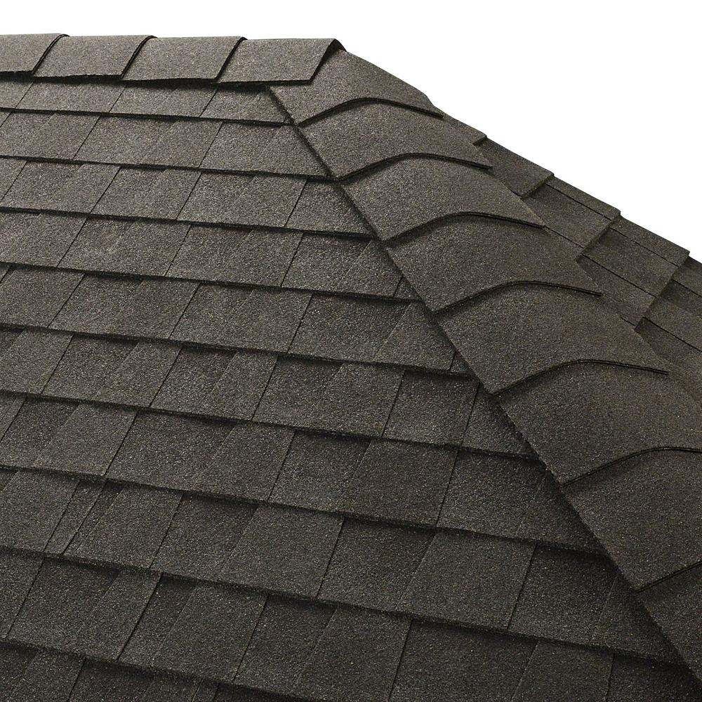 Gaf timbertex charcoal hip and ridge shingles 20 linear for How many types of roofing shingles are there
