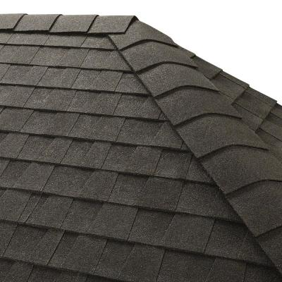 Timbertex Charcoal Double-Layer Hip and Ridge Cap Roofing Shingles (20 lin. ft. per Bundle) (30-pieces)