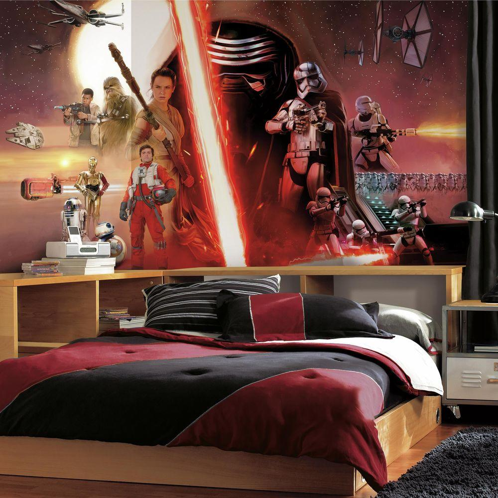 RoomMates 72 in x 126 in Star Wars EP VII 7 Panel Pre Pasted XL