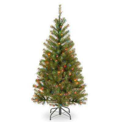 4 ft. Aspen Spruce Tree with Multicolor Lights