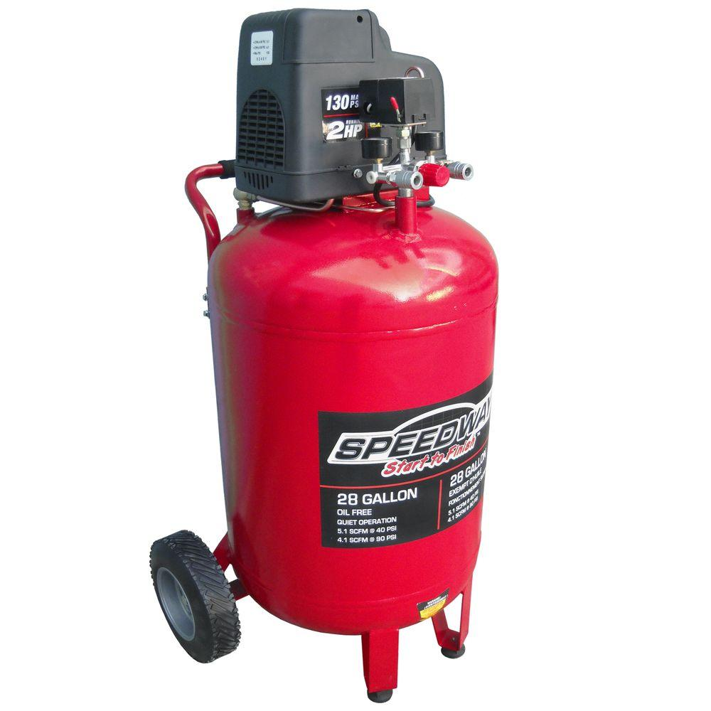 Speedway gal hp oil free vertical air compressor