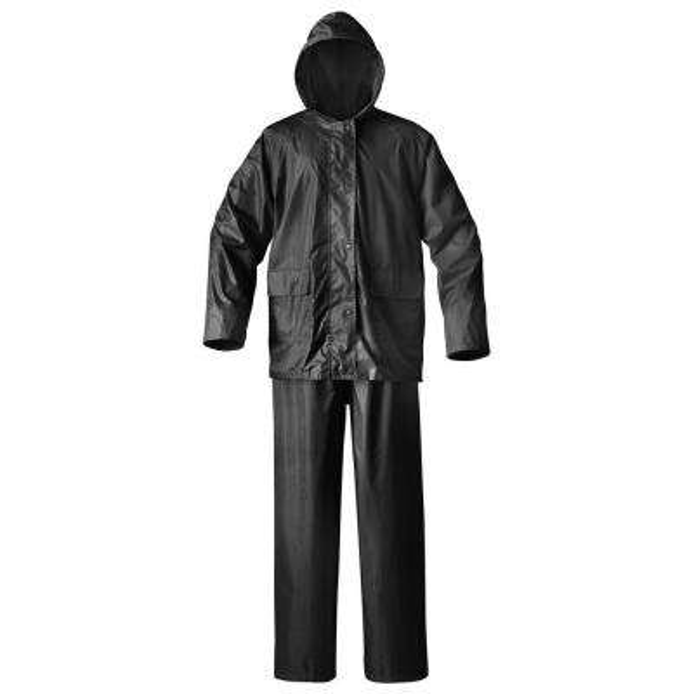 Mens Simplex Large Black Rainsuit