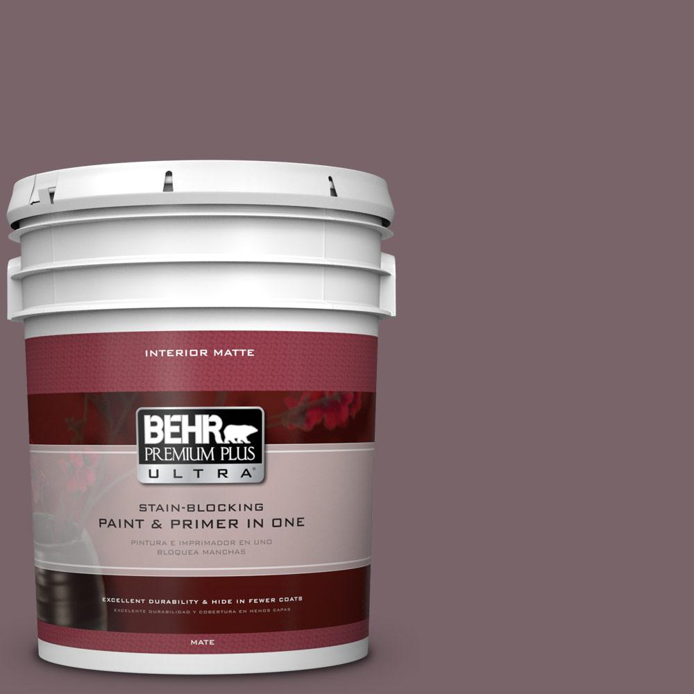 5 gal. #100F-6 Plum Shade Flat/Matte Interior Paint