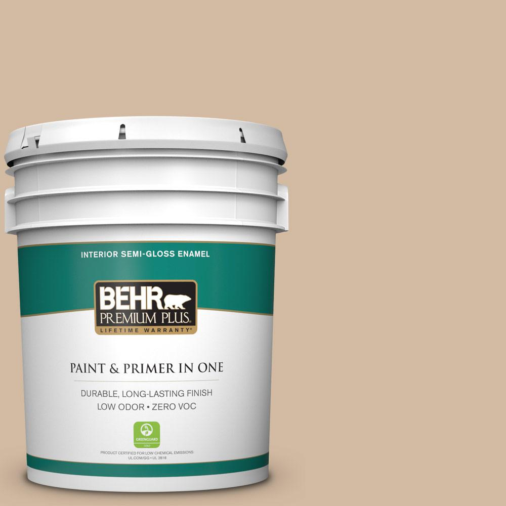 BEHR Premium Plus 5-gal. #N270-3 Coco Semi-Gloss Enamel Interior Paint