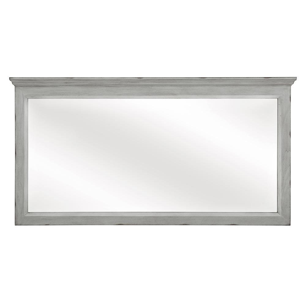 Foremost Teagen 58 in. W x 30 in. H Wall Mirror in Vintage Grey