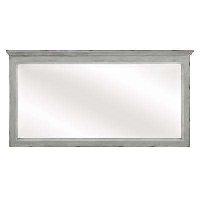 Teagen 58 in. W x 30 in. H Wall Mirror in Vintage Grey