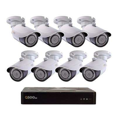 8-Channel 4K 2TB H.265 NVR Security Surveillance System with (8) 8MP IP Bullet Cameras