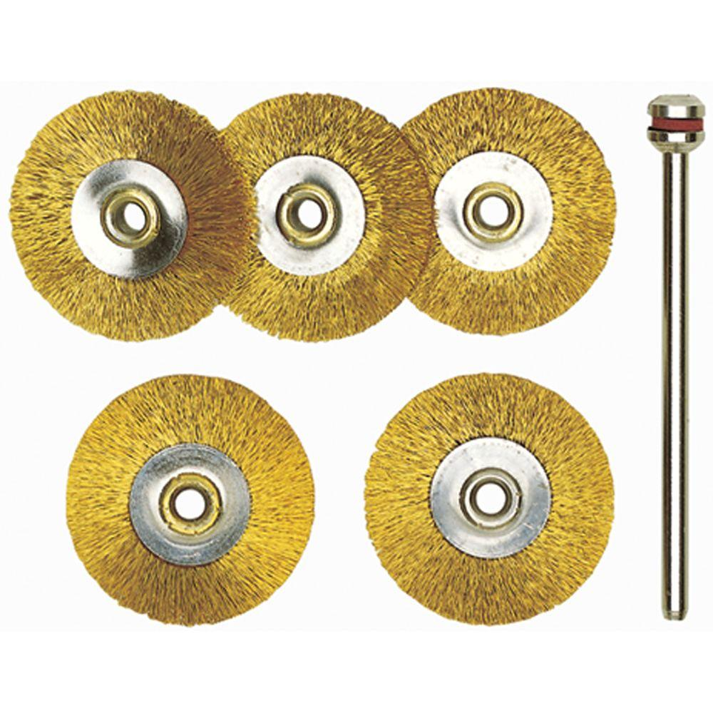 Proxxon 22 mm Brass Wheel Brushes (5-Piece)