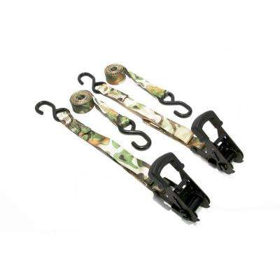 8 ft. x 1-1/4 in. Camouflage Ratchets (2 per Pack)