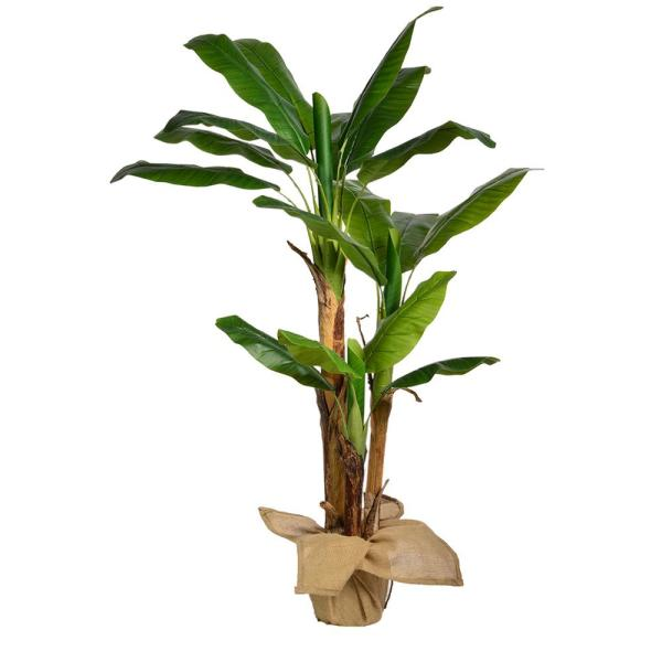 Vintage Home 60 In H Banana Tree Artificial Faux Decor With Burlap Kit Vhx133 The Home Depot