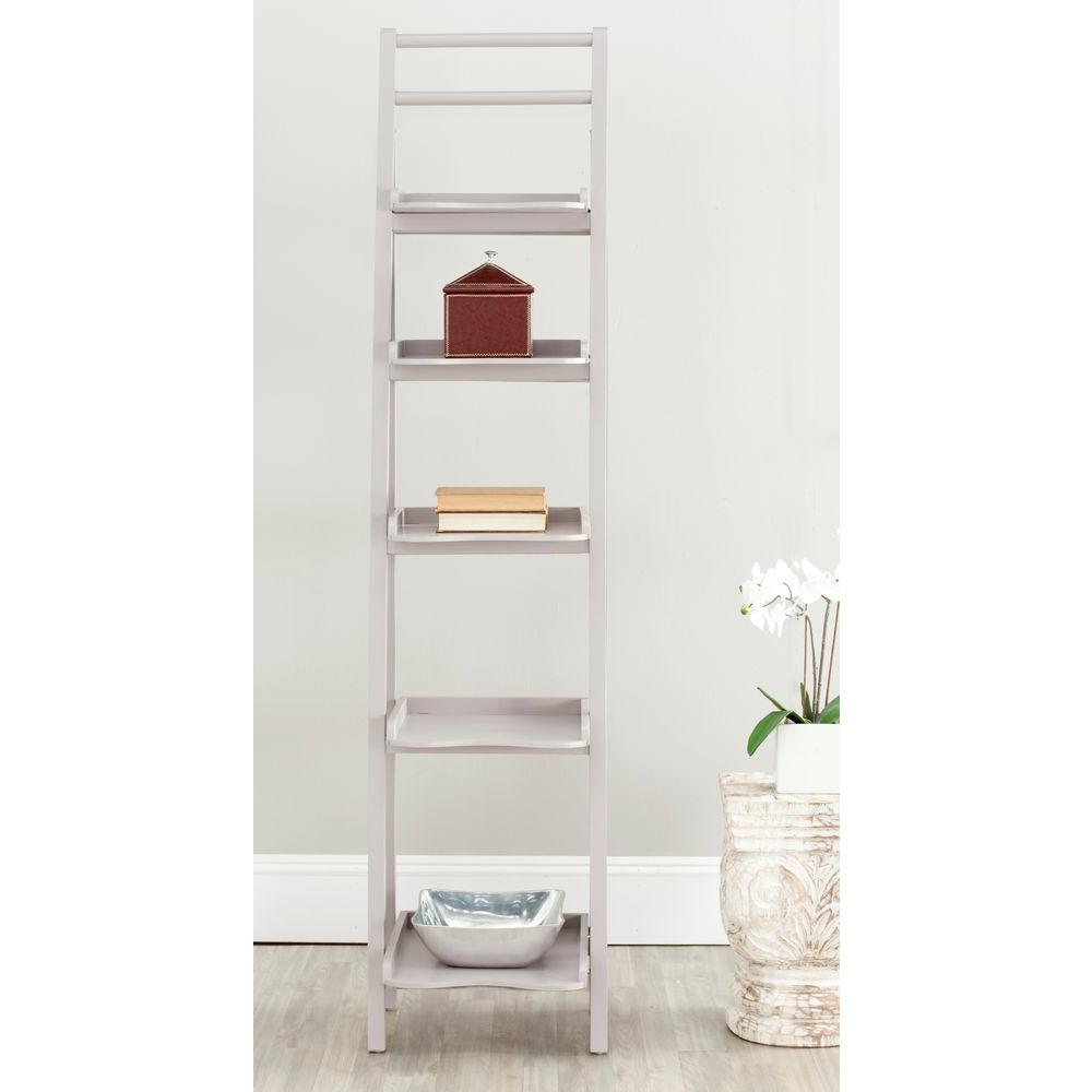 Asher Grey Ladder Bookcase