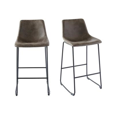 Collins 29 in. Gray Bar Stool (Set of 2)