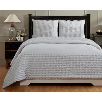 Olivia 68 in. X 90 in.  Grey Twin Comforter with 20 in. X 26 in. Standard Sham