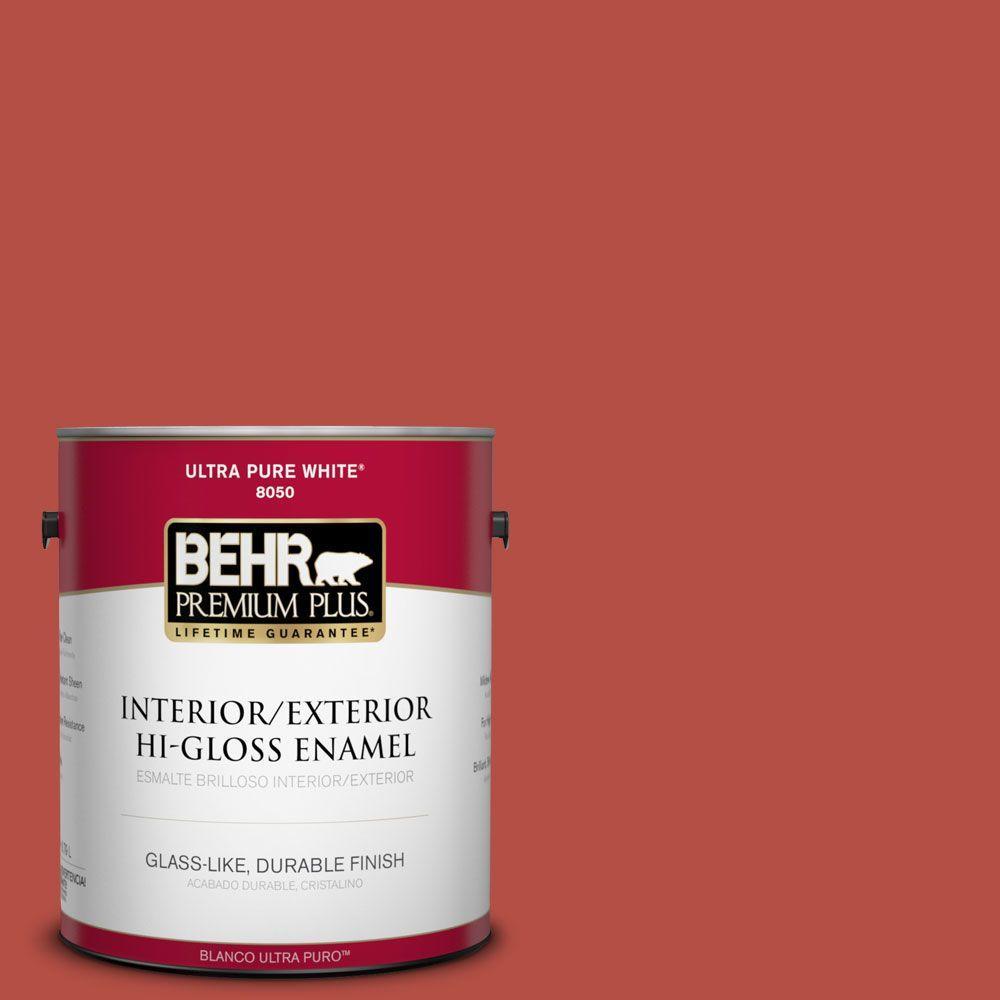 BEHR Premium Plus 1-gal. #T14-20 Amaryllis Hi-Gloss Enamel Interior/Exterior Paint